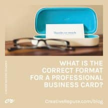 What is the Correct Format for a Professional Business Card